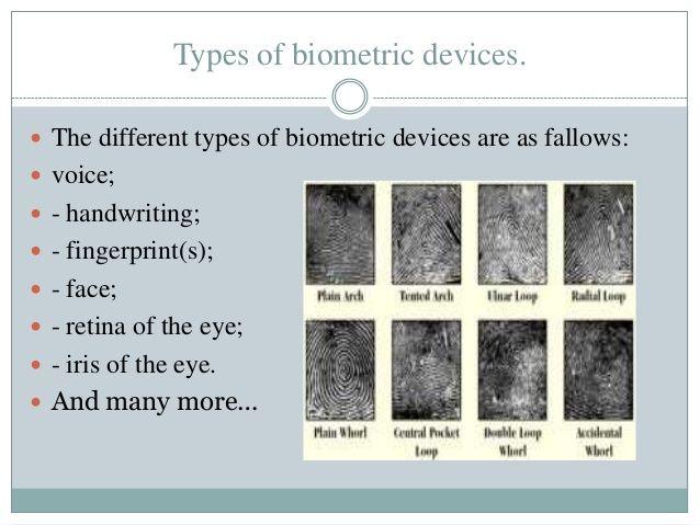Different Types Of Biometrics Ezinearticles