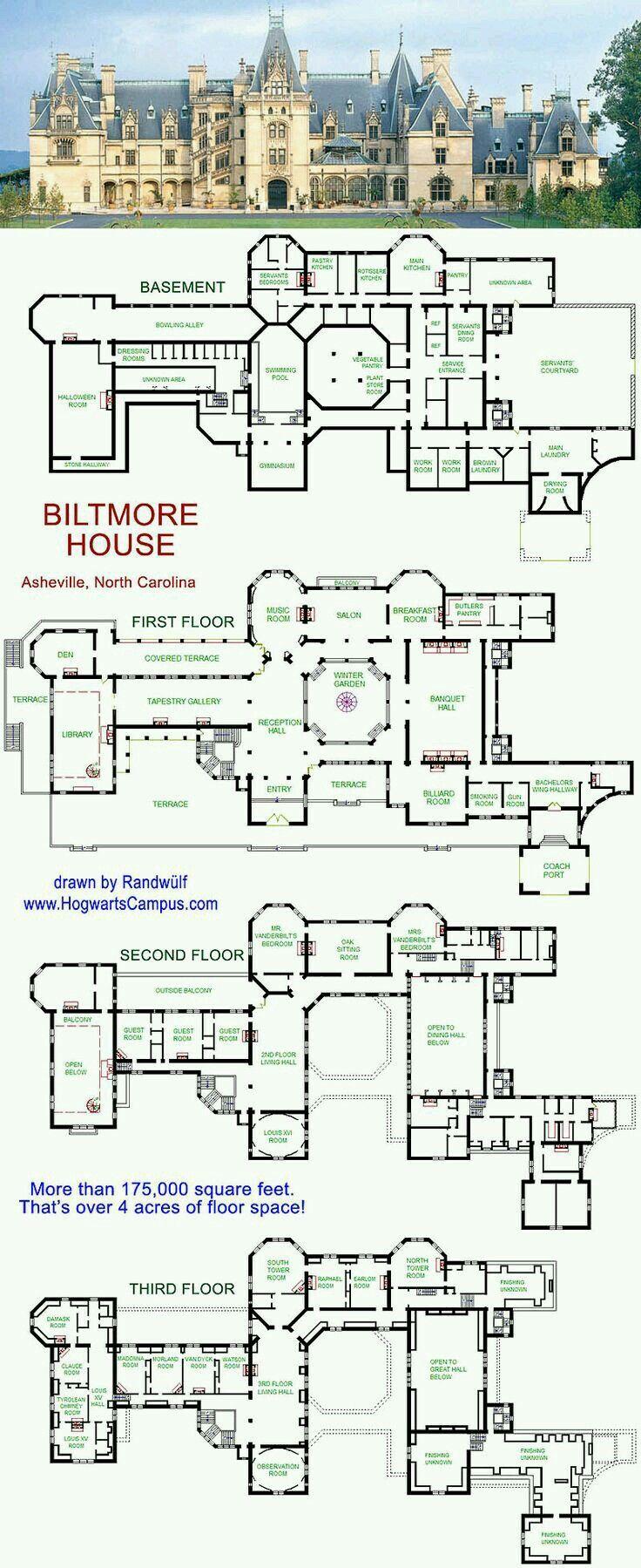 Biltmore Floor Plans House Plans Mansion Mansion Floor Plan