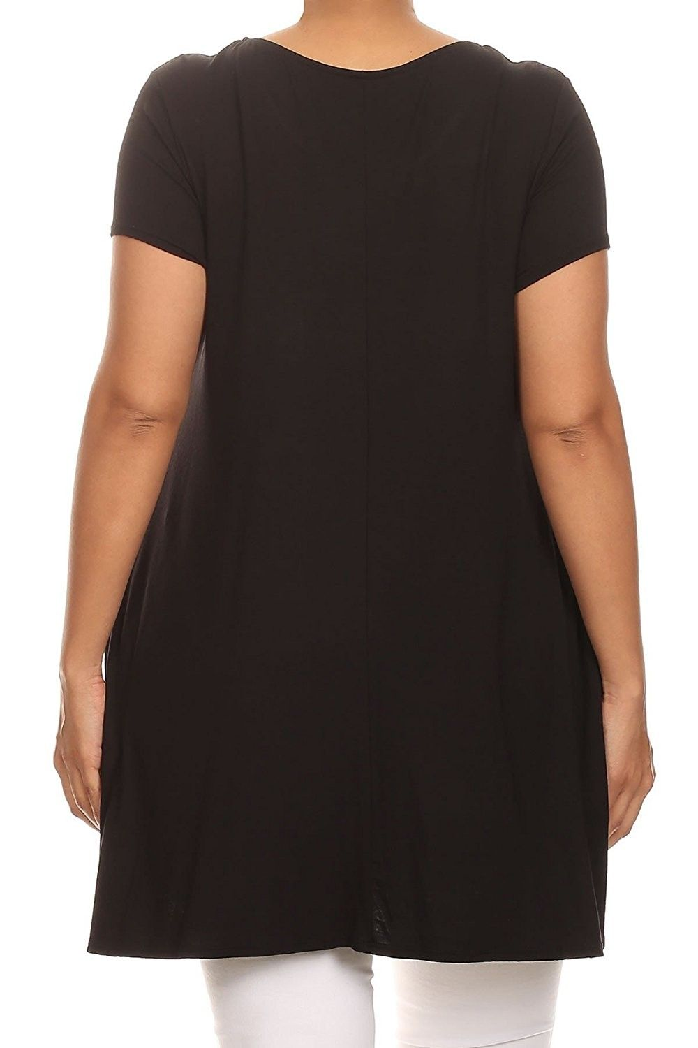 9337e3965d Women's Clothing, Tops & Tees, Knits & Tees, Women Plus Size Short Sleeve  Solid Pocket Asymmetric Tunic Knit Top Tee Shirt - Turquoise - CE185R6YU63 # Tops ...
