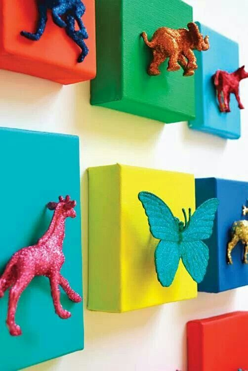 20 DIY ideas for making your own wall art | Playrooms, Corner and Room