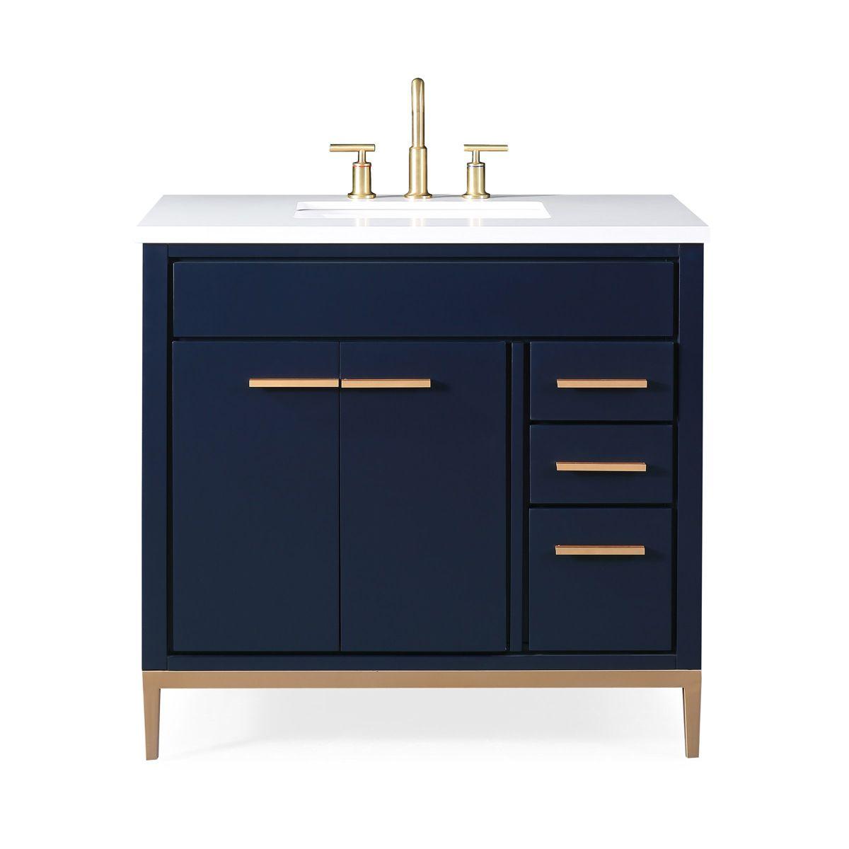 36 Tennant Brand Beatrice Navy Blue Modern Bathroom Sink Vanity Tb 9888nb V36 Modern Bathroom Sink Bathroom Sink Vanity Blue Modern Bathrooms