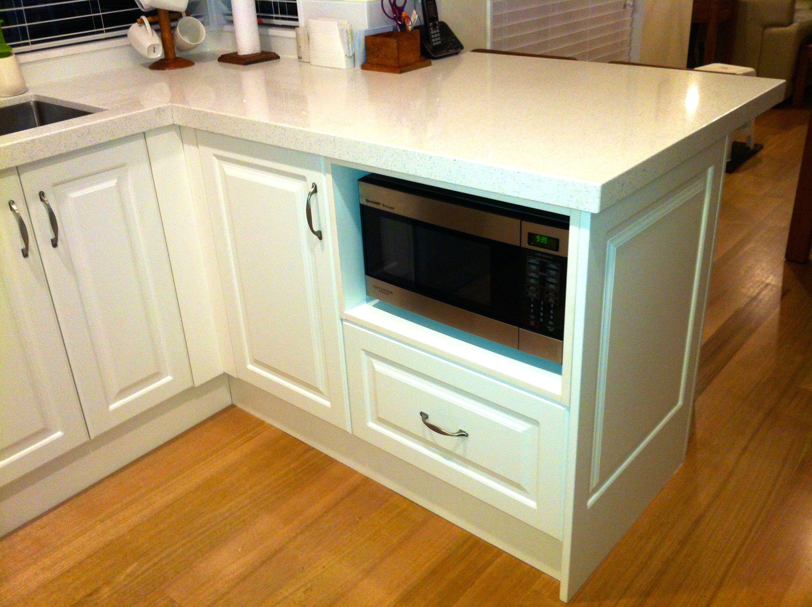 Under Bench Microwave Microwave In Kitchen White Kitchen Kitchen