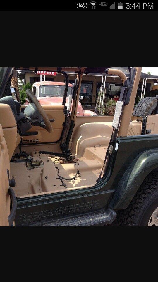 Rhino Lining Jeep Wrangler Interior Jeep Interiors Jeep Tj