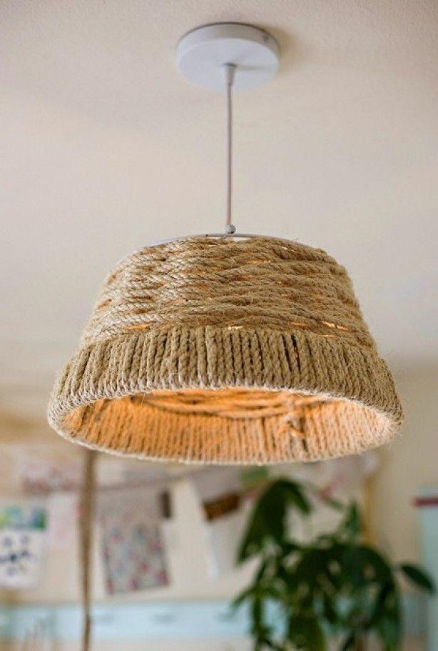 Lamp Gemaakt Van Een Mand Door Snakie87 Touw Lamp Doe Het Zelf Lamp Diy Decoratie