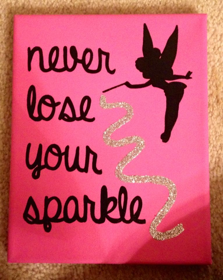 The Sparkle Tree Was Notorious For Making A Canvas With This Quote On It