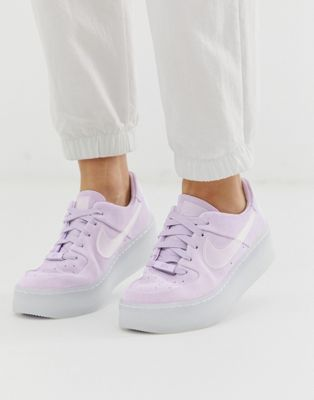 241d59f131c Nike Lilac Ice Air Force 1 Sage Trainers in 2019