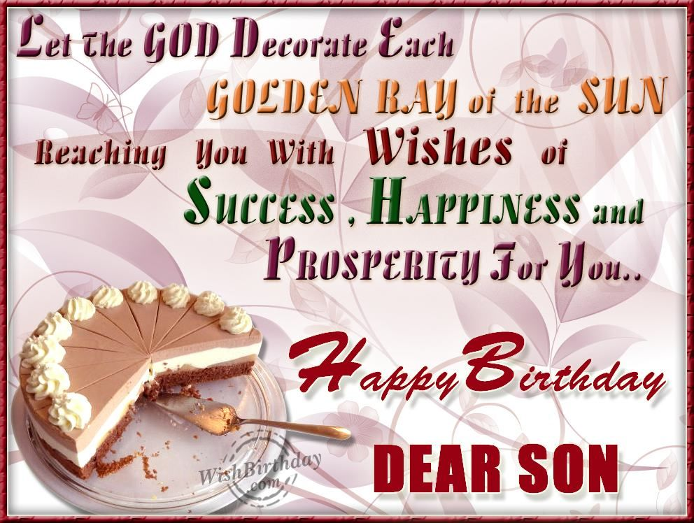 birthday wishes for a son from a mother Google Search – Google Greetings for Birthday