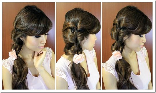 Fancy Looped Side Ponytail