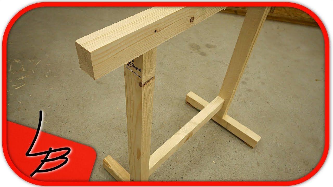 Stabile Holzbocke Einfach Schnell Und Billig Selber Bauen Holzbock Selber Bauen Werkbank Selber Bauen