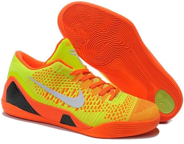 size 40 e4103 ccb9a Nike Kobe 9 Elite Low Custom orange yellow