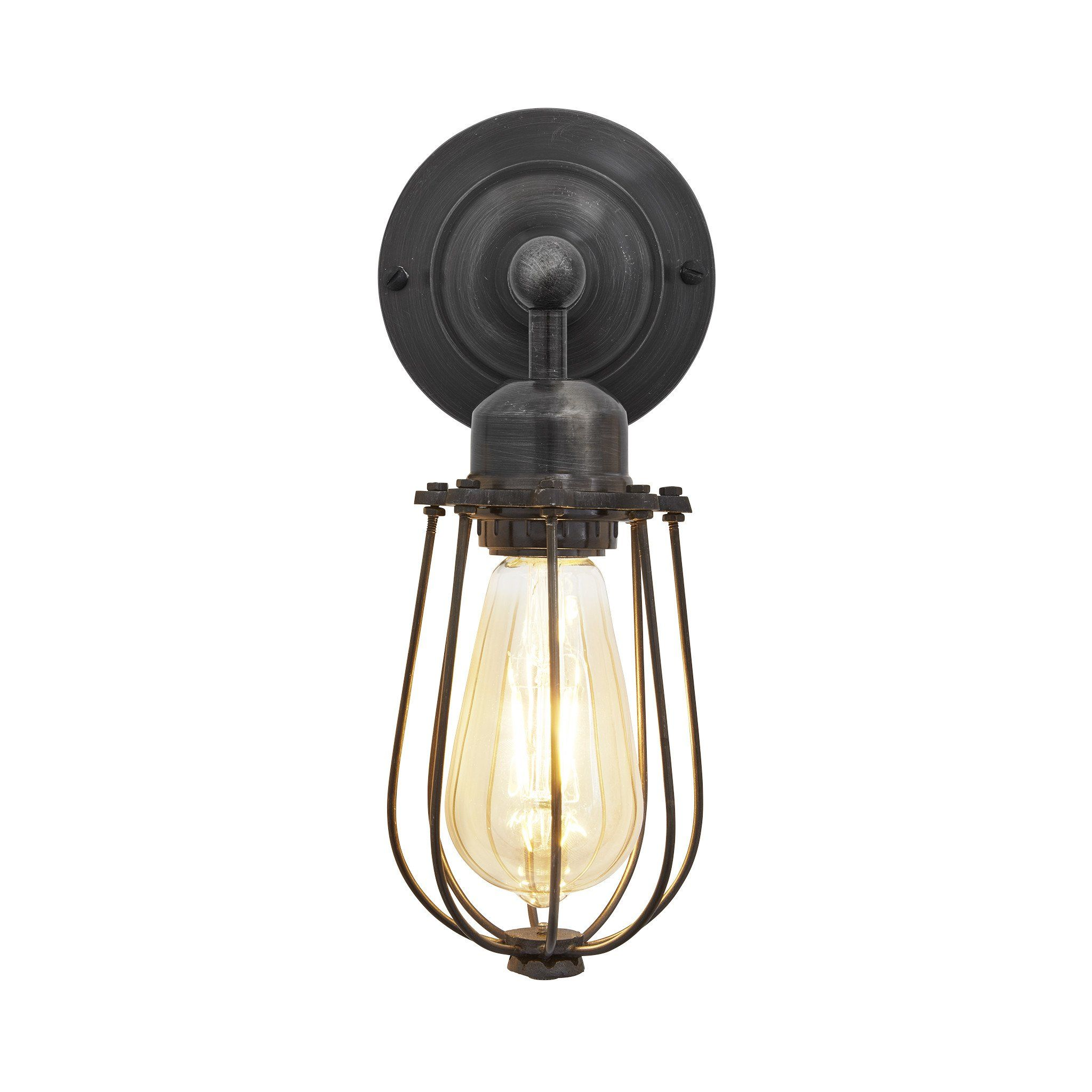 Product Image Wall Lights Industrial Pinterest Sconces Wire Light Orlando Cylinder Cage Retro Holloways Of Ludlow