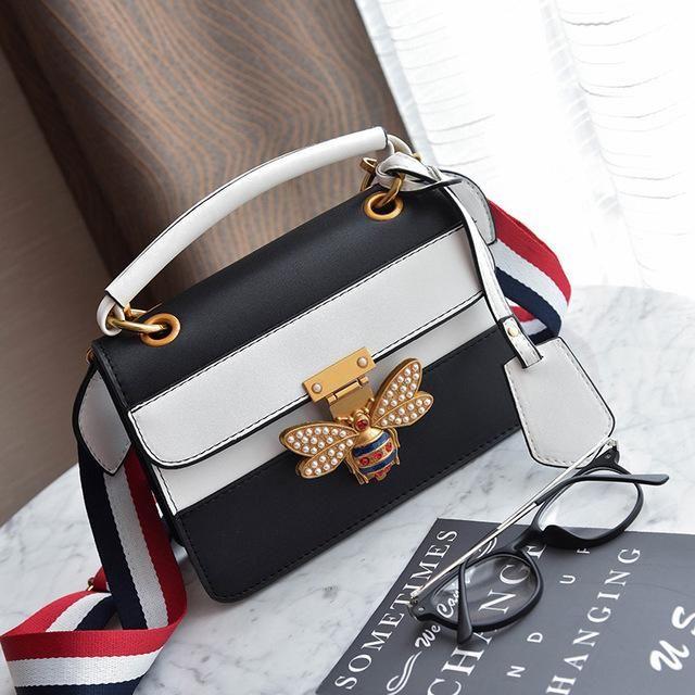 4cef050202 2018 Luxury Crossbody bag Women Colorful splicing Little bee Bags Designer  Handbag Female Shoulder Bags Messenger