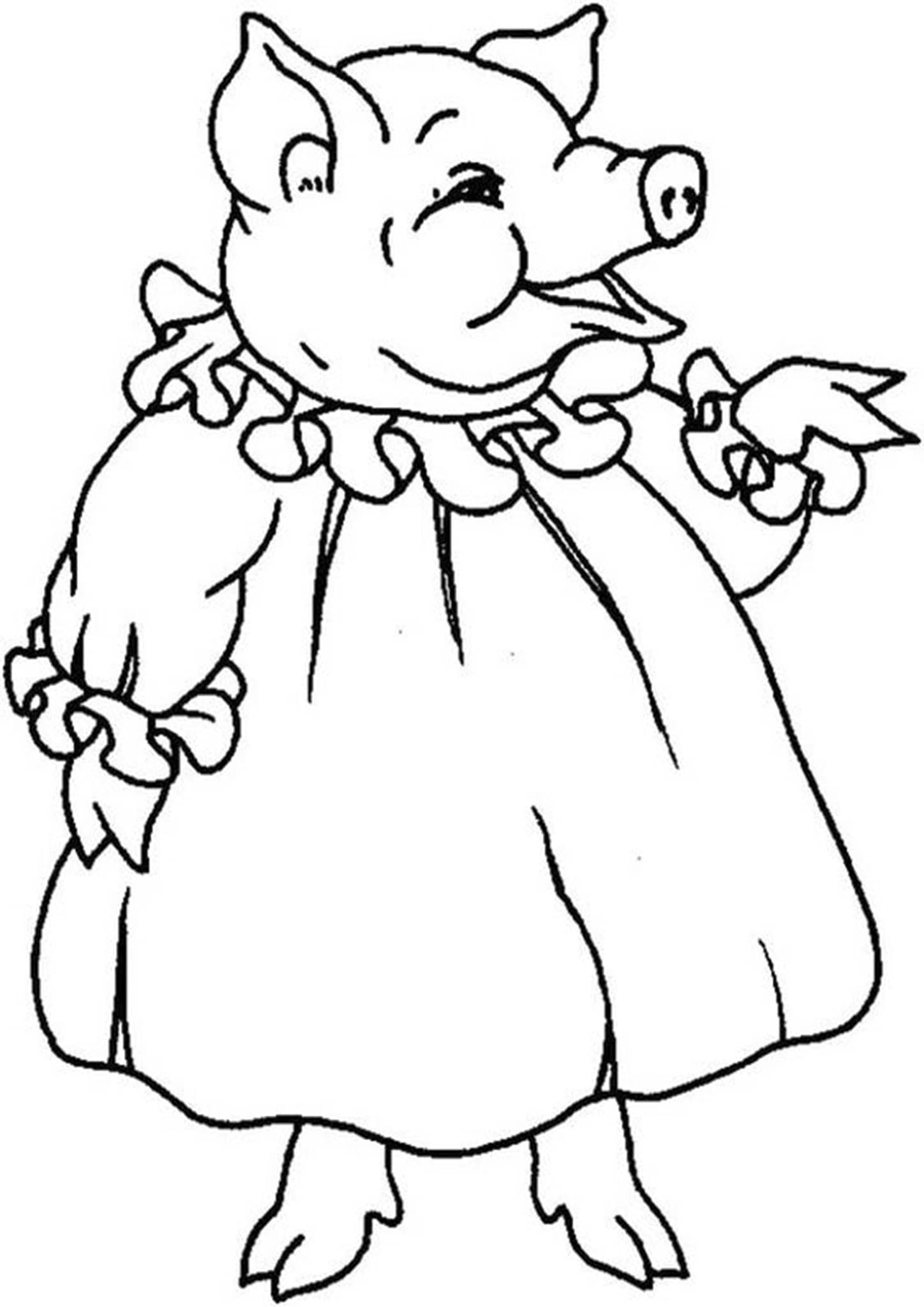 Free Easy To Print Pig Coloring Pages Pig Coloring Page Dinosaur Coloring Pages Coloring Pages