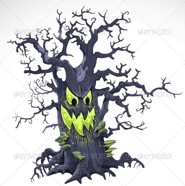Terrible Halloween Cartoon Tree With A Grin Isolated On White Background Cartoon Trees Halloween Images Graphics Halloween Cartoons Find & download free graphic resources for cartoon monster. terrible halloween cartoon tree with a