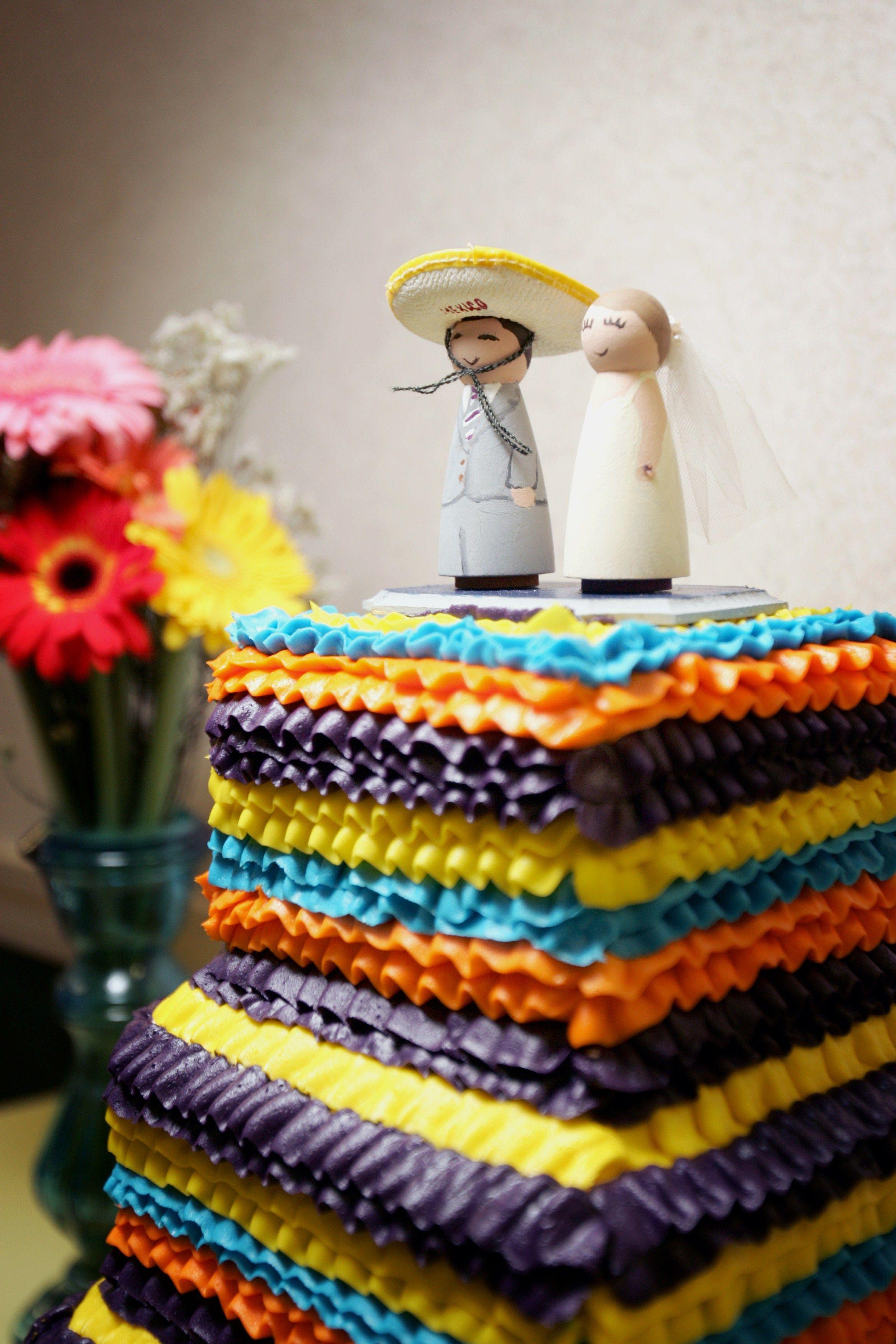 Wedding Cake Mexican Fiesta Colorful Ruffle Lexington KY