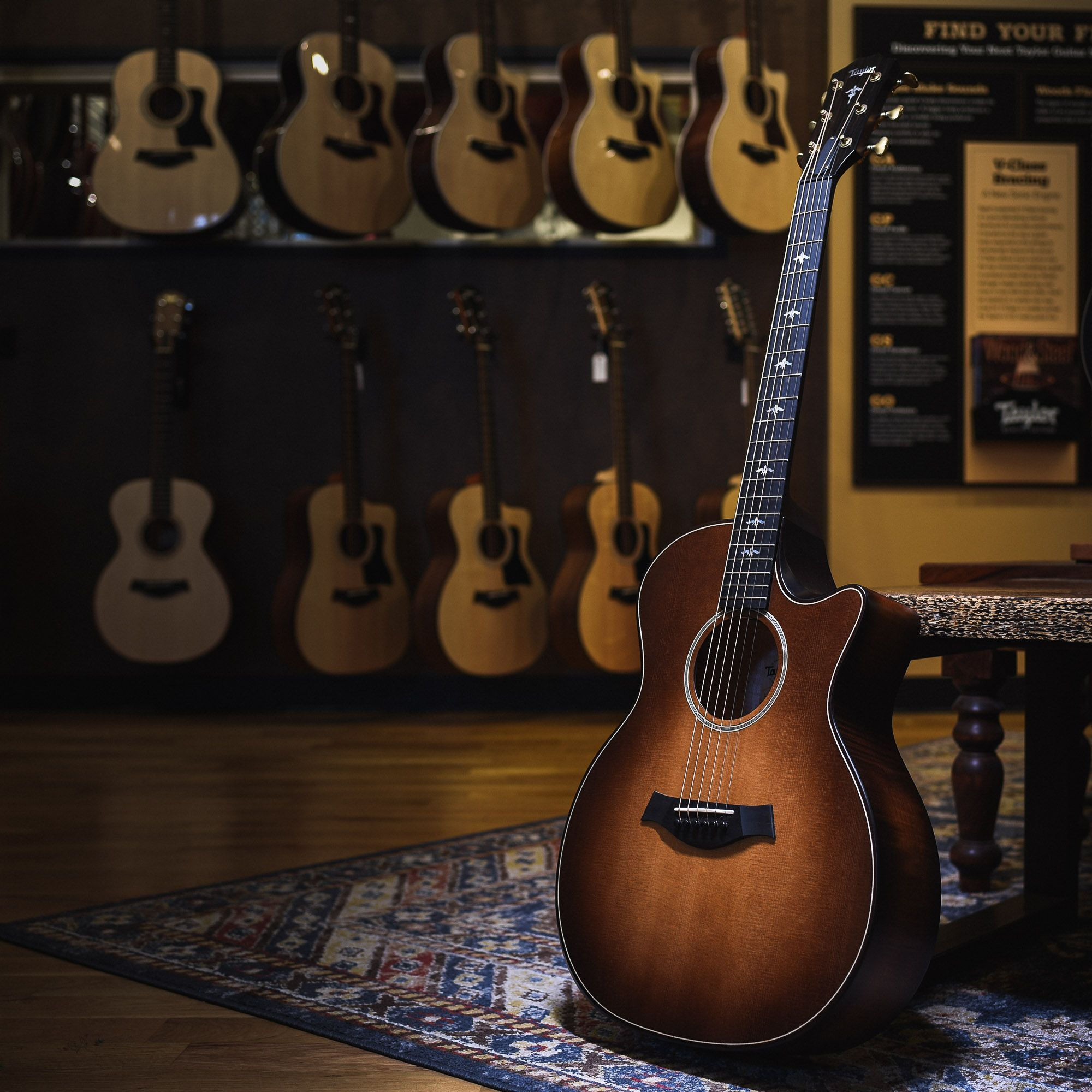 Presenting The Taylor 614ce Builder S Edition Part Of The New Taylor Experience At Chicago Music Exch Taylor Guitars Martin Acoustic Guitar Guitar Photography