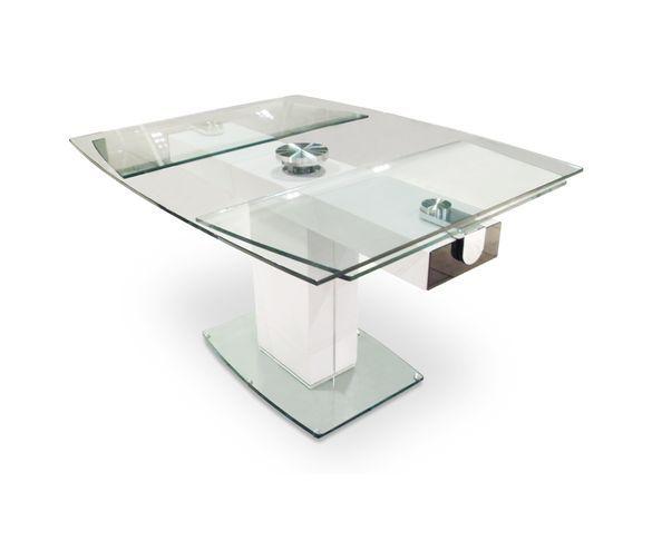 table de repas extensible en verre sur deco and me table pinterest tables de repas. Black Bedroom Furniture Sets. Home Design Ideas