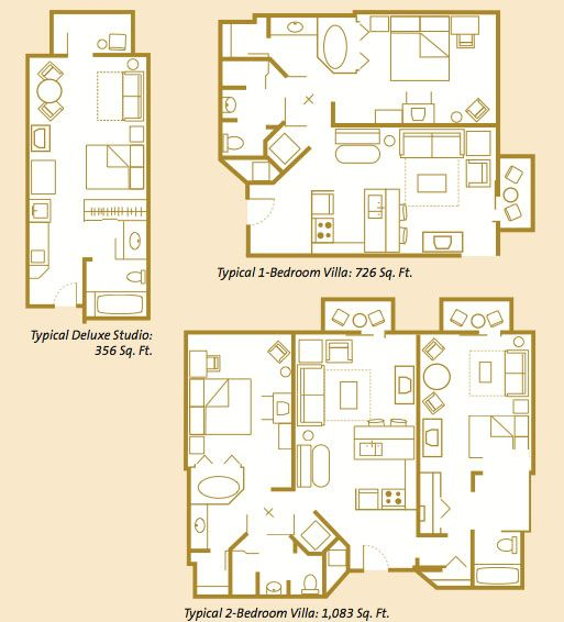 Room Layout Layouts Beach Club Disney