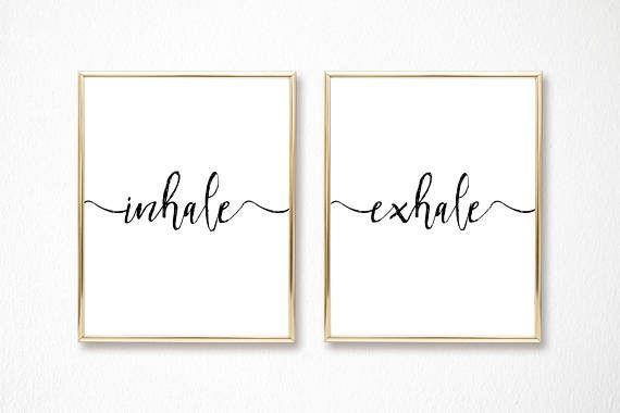 Digitaldruck - A2 Inhale Exhale - 2 druckbare Poster ...