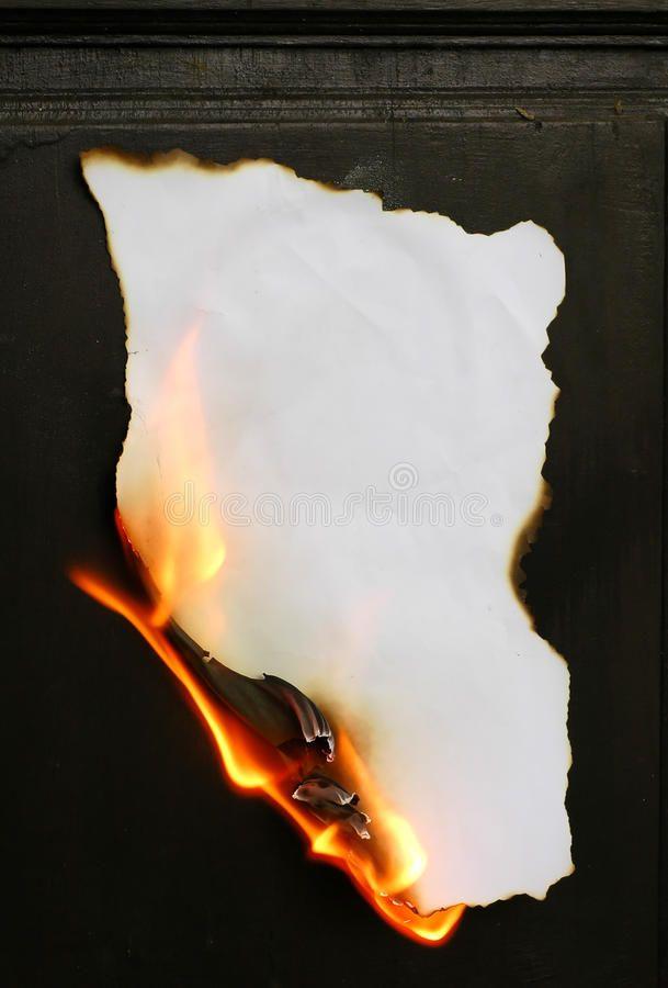 Burning paper stock photo. Image of aged, idea, fl