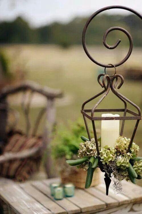 Pin de livia cozzi en lanterne love pinterest for Faroles en hierro forjado para jardin