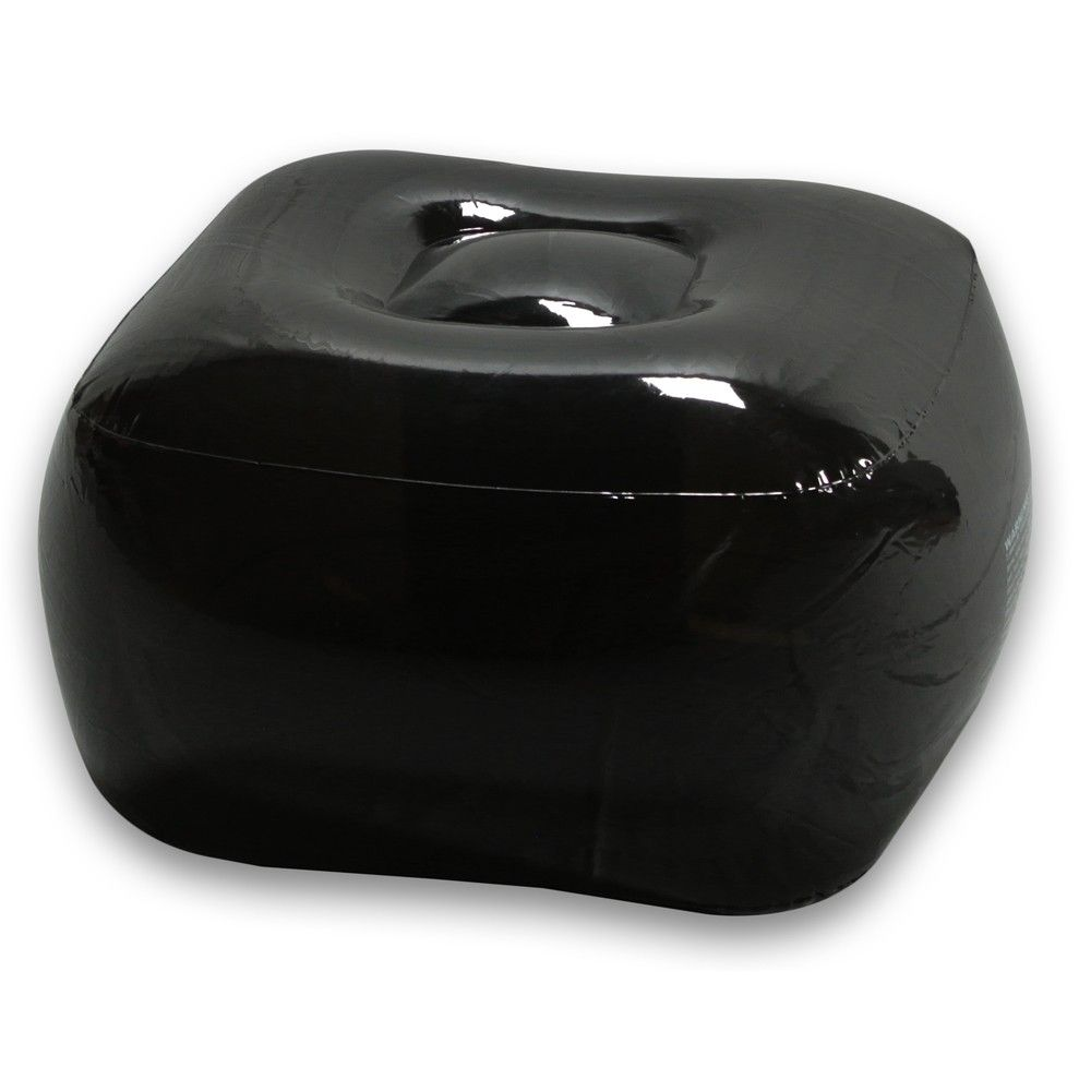 Smoke black inflatable bubble ottoman