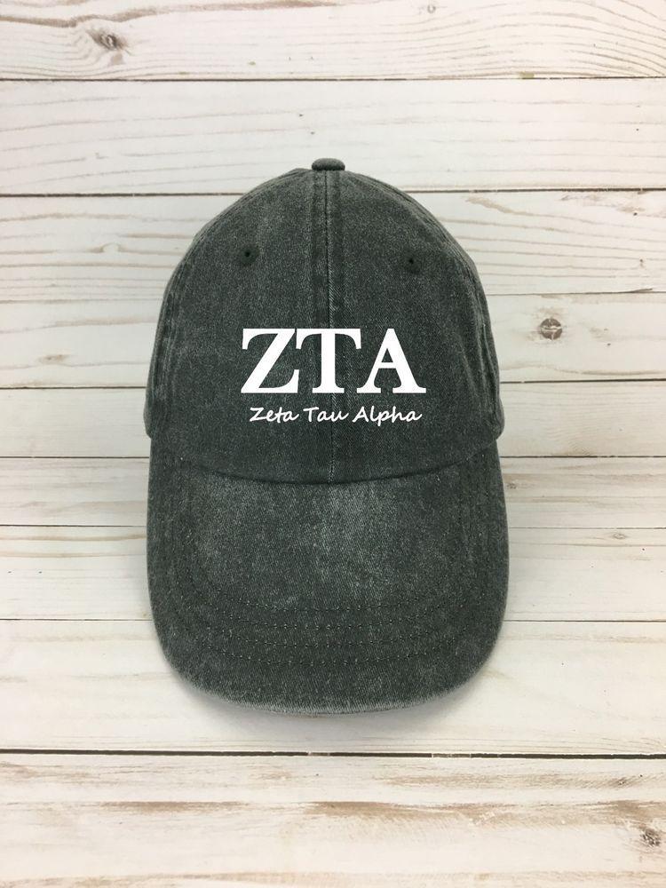 ZTA dad hat zeta tau alpha dad hat Fraternity and sorority hat - sorority  gift 054f0e5bd00a