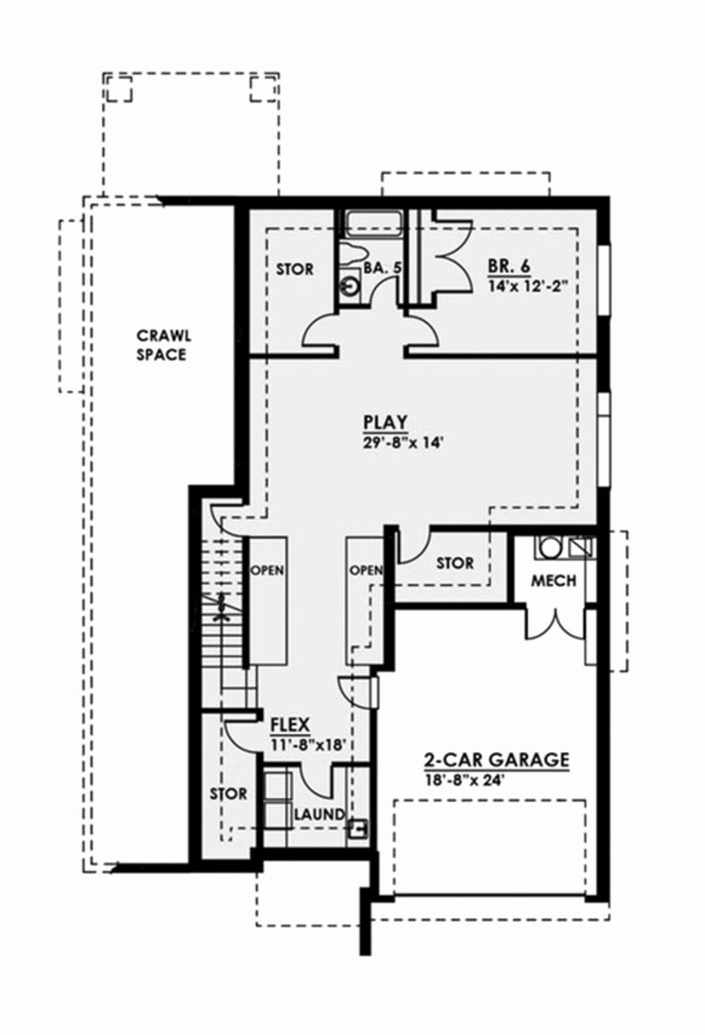 18 X 24 House Plans Unique Contemporary Style House Plan 6 Beds 5 5 Baths 5816 Sq Ft Plan 1066 38 In 2020 Modern Style House Plans House Plans Contemporary Style Homes