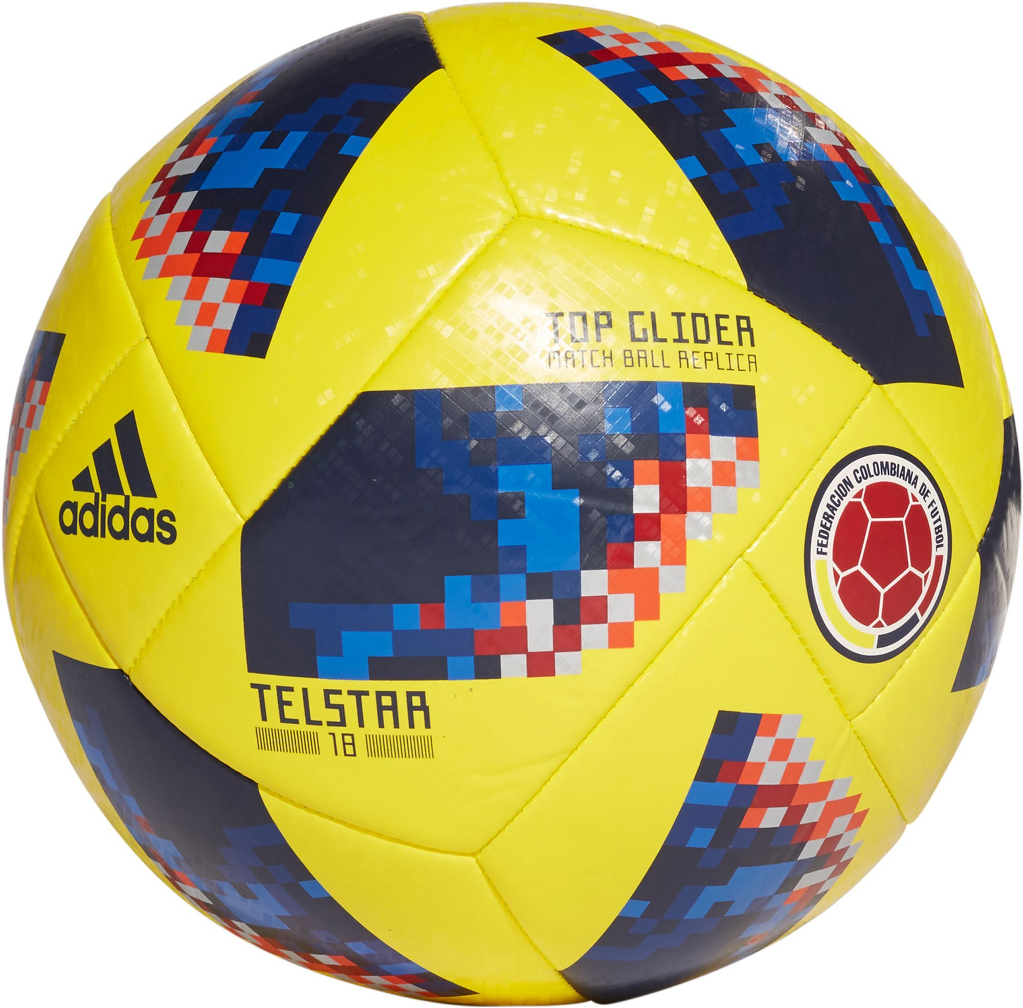 0dad3e88a adidas 2018 Fifa World Cup Russia Colombia Supporters Glider Soccer Ball,  Yellow