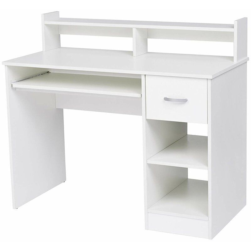 Wirth Desk In 2020 Desk With Keyboard Tray White Computer Desk Desk With Drawers