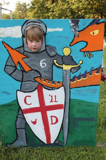 Knight photo-op cutout... I'd want mine more realistic looking.