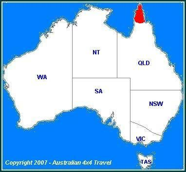 Australia Map Qld.Cape York Qld Australia York Peninsula Australia Largest Ocean