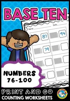 Place value worksheets 1st grade (numbers 76 to 100) tens and ones ...