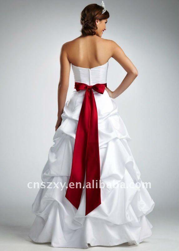 wedding dress with red sash | Wedding | Pinterest | Wedding dress ...