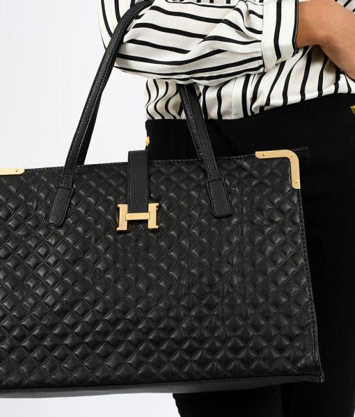 0e6dda2d7 Bolsa Feminina Hermès Inspired em Couro Sintetico Matelassê Preta 8 ...