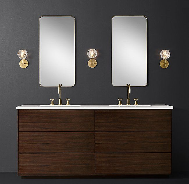 RHu0026 Bowen Double Vanity:Free Of Visible Hardware And Possessing A Rich Wood  Grain, Our Bowen Bath Collection From The Van Thiels Reflects The  Minimalist And ...