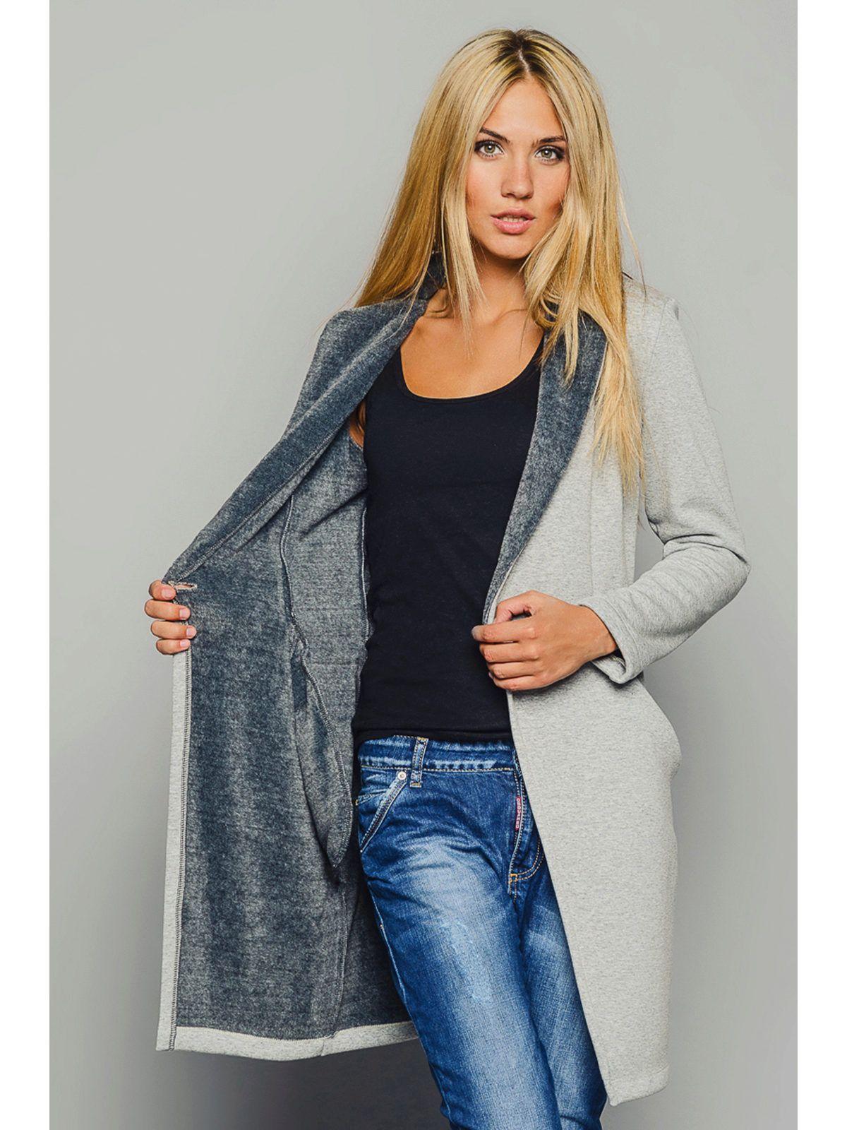 5a2479e0bfc4 Пальто-кардиган (118 фото): из плотного трикотажа, с чем носить женский