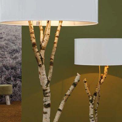 DIY: Tree Birch Tree Branch Lamp | Ideen zum selbermachen