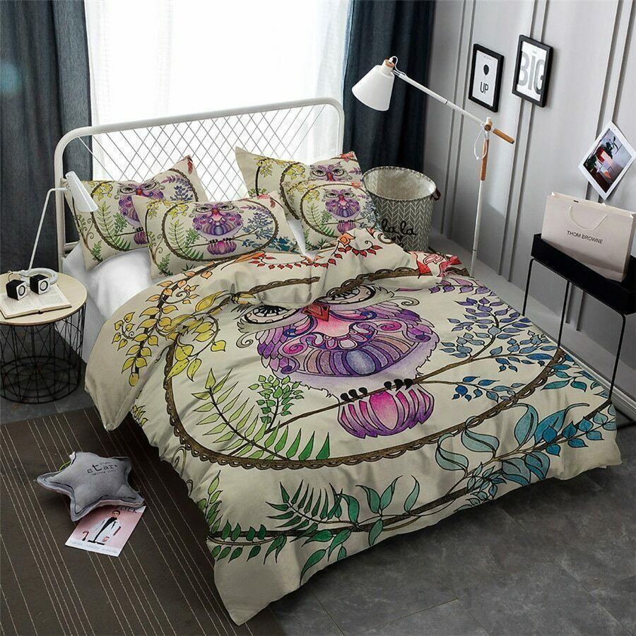 4pc 5pc 3D Owl Bedding Girls Duvet Cover Comforter Set