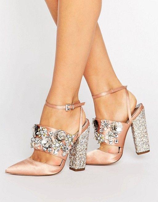Asos 83 Embellished Heels Wedding Shoes Heels