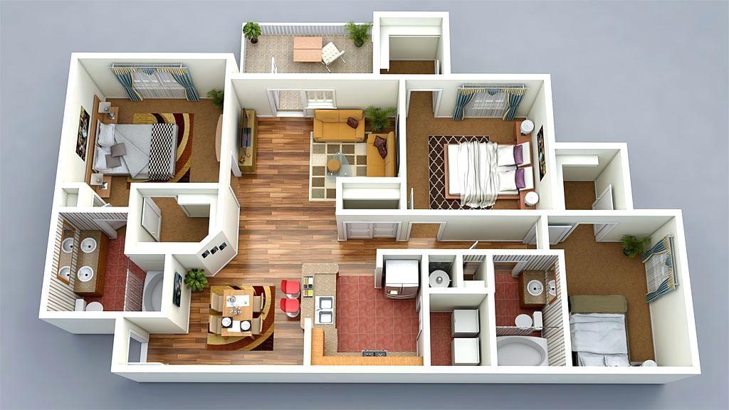 Image Result For Ground Floor 3d Design Wood House Design Bedroom Floor Plans House Extension Plans