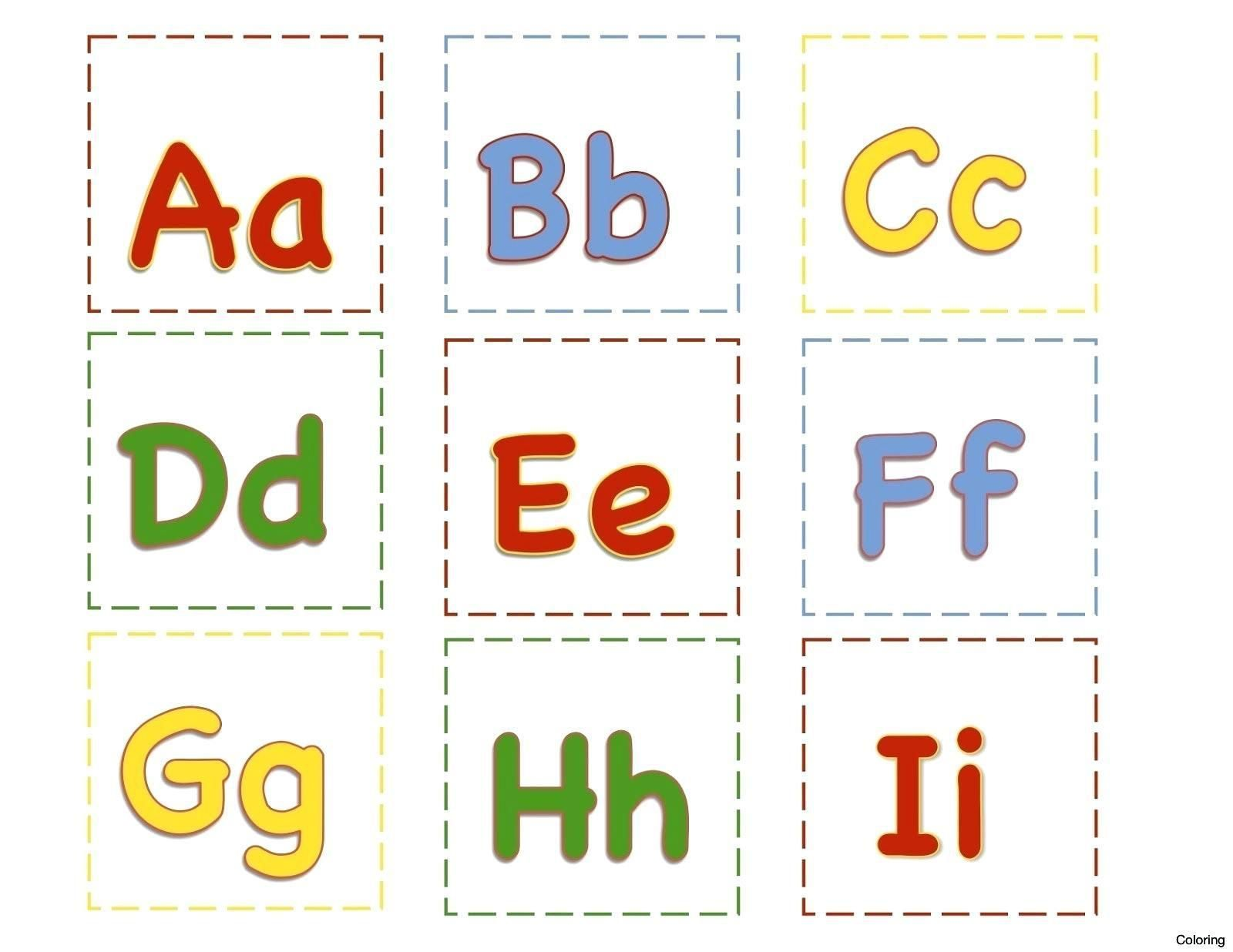 Printable Alphabet Cards For Preschool Em