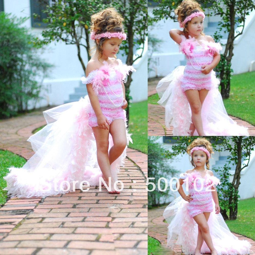 Christmas Sale for Lovely Girl White and Pink Ruffled Flower