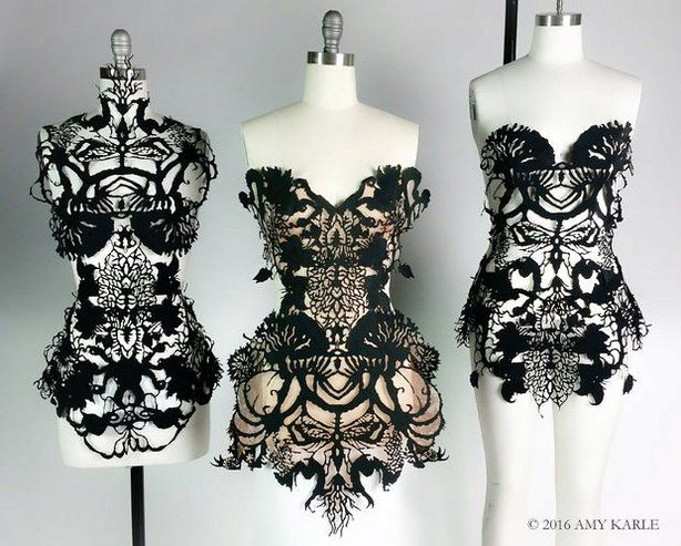 Good 2016_11 Artist Amy Karle Wearable Art Custom Haute Couture Designed From 3d  Body Scan Lasercut And Hand Made 3 Dresses Shared* W Name 3