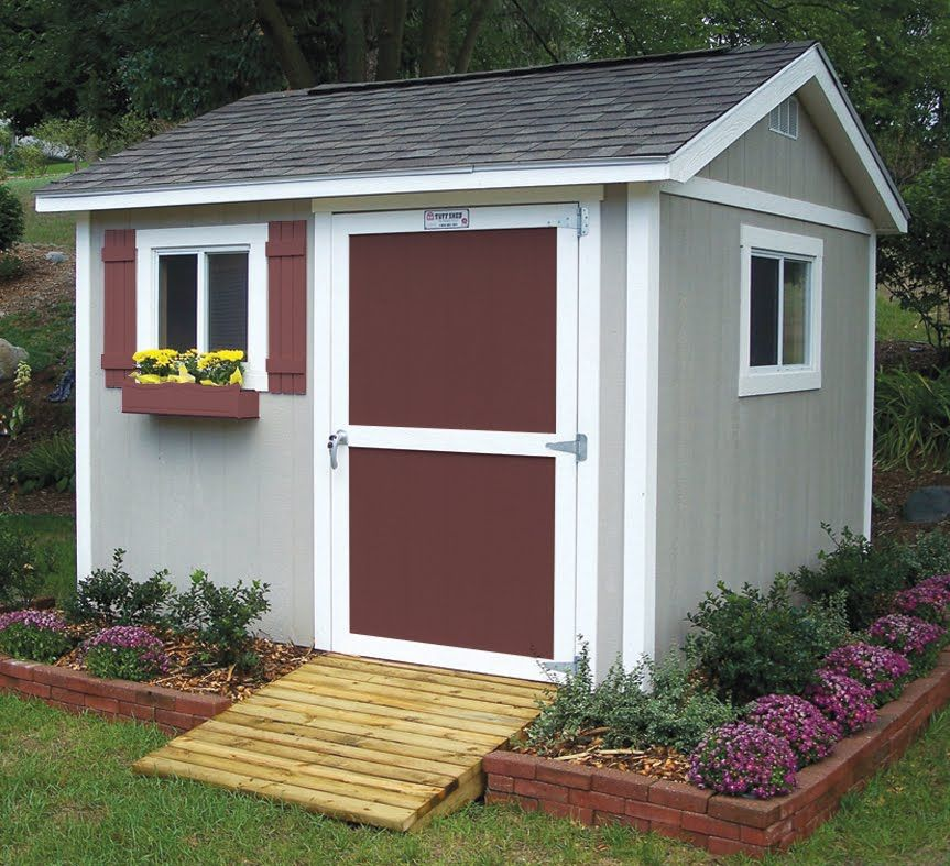 Brick Around Shed With Mulch And Flowers Gettin Dirty Shed