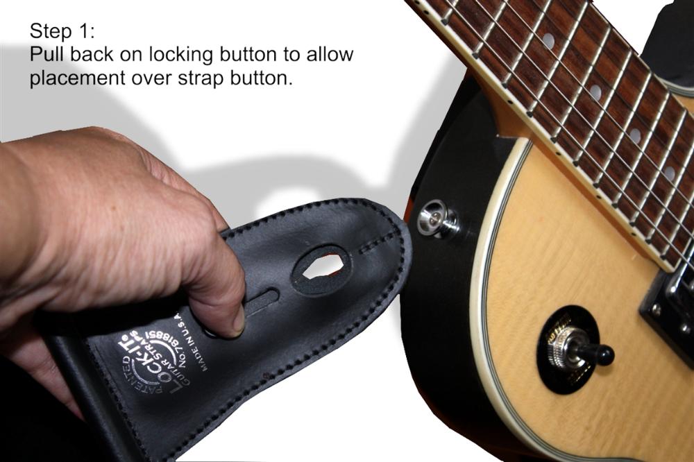 Guitar Strap Leather 2 5 Black Lock It Guitar Strap Leather Guitar Straps Leather