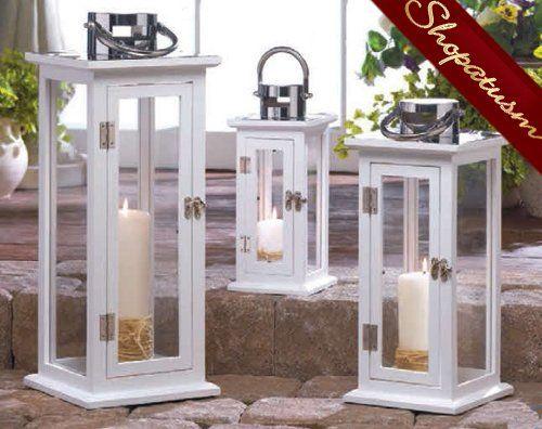 Large Aspen Wedding Centerpiece Wholesale White Wood Candle