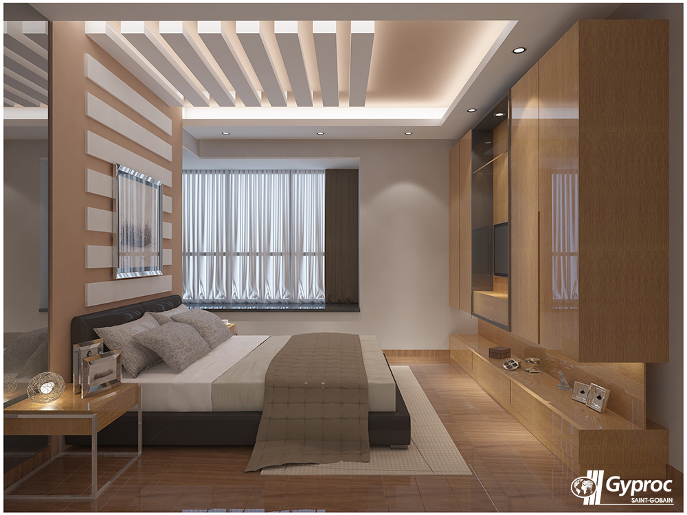 Install The Best Of Gyproc India Falseceilings Experience A Serene Lovely Bedroom Bedroom False Ceiling Design Ceiling Design Bedroom False Ceiling Design