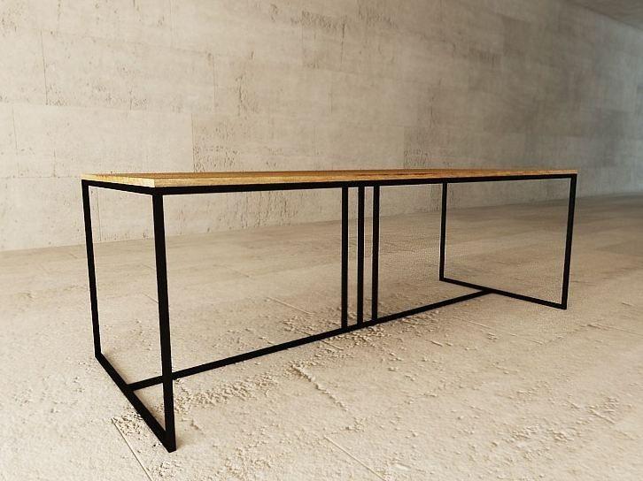 Table bureau en acier et bois deco by lagerform bureau