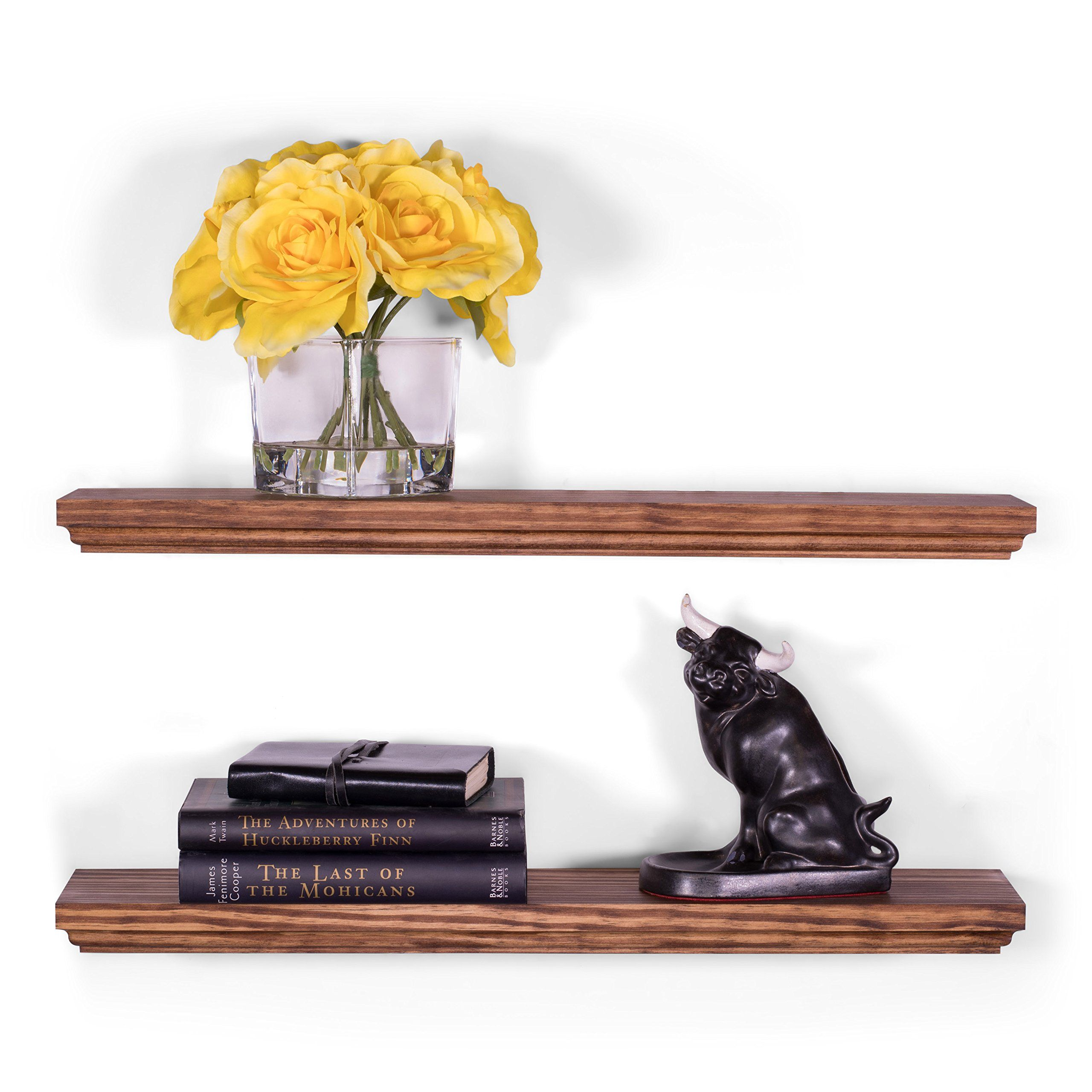Dakoda Love 24 X 5 25 Routed Edge Solid Wood Floating Shelves